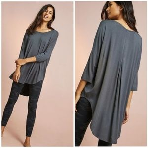 Anthropologie Floreat Oversized Knit Tee Gray